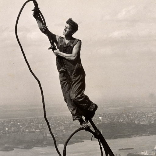 Icarus, Empire State Building by Lewis Hine