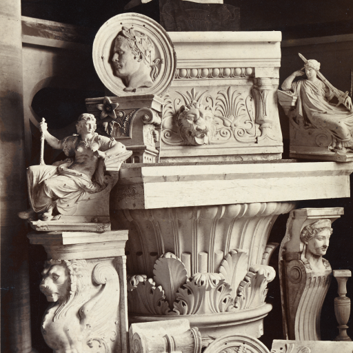 Still life of sculpture and architectural fragments by undefined