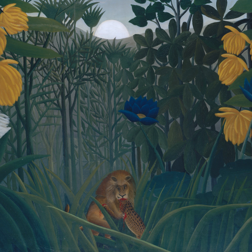 The Repast of the Lion by Henri Rousseau