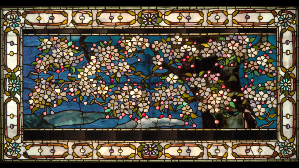 Cherry Blossoms Against Spring Freshet by John La Farge