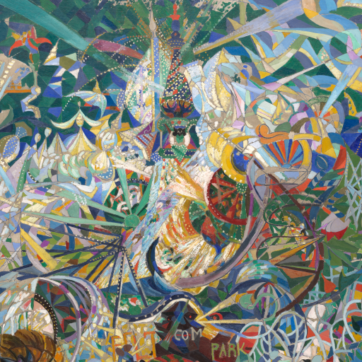 Battle of Lights, Coney Island, Mardi Gras by Joseph Stella