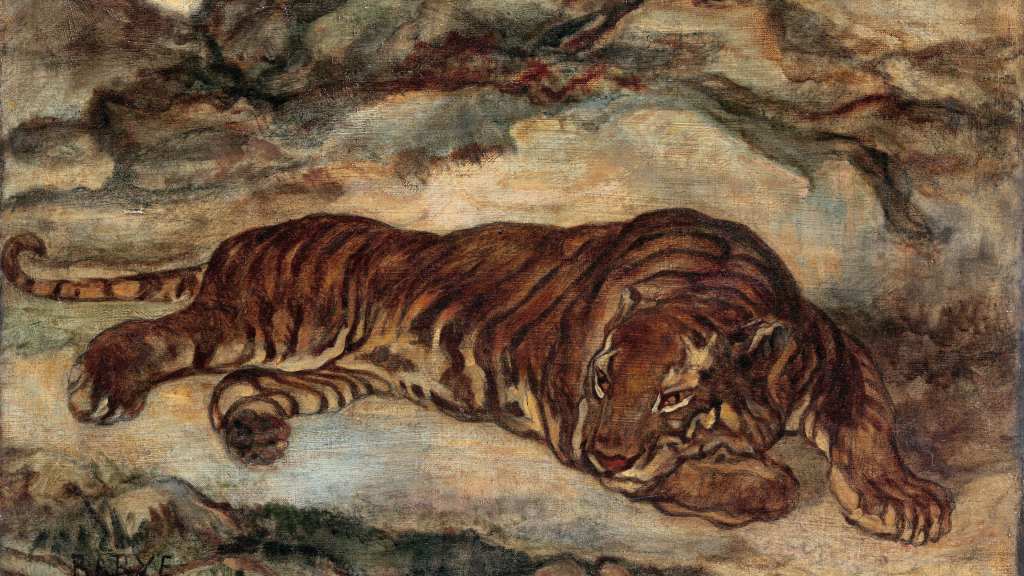 Tiger in Repose by Antoine-Louis Barye
