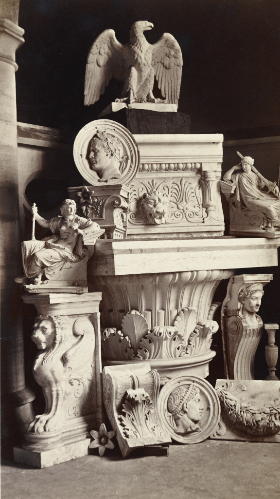 Still life of sculpture and architectural fragments by Jean Pierre Philippe Lampué
