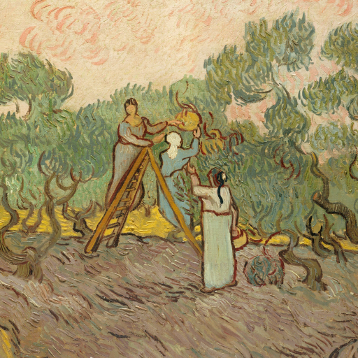 Women Picking Olives by undefined