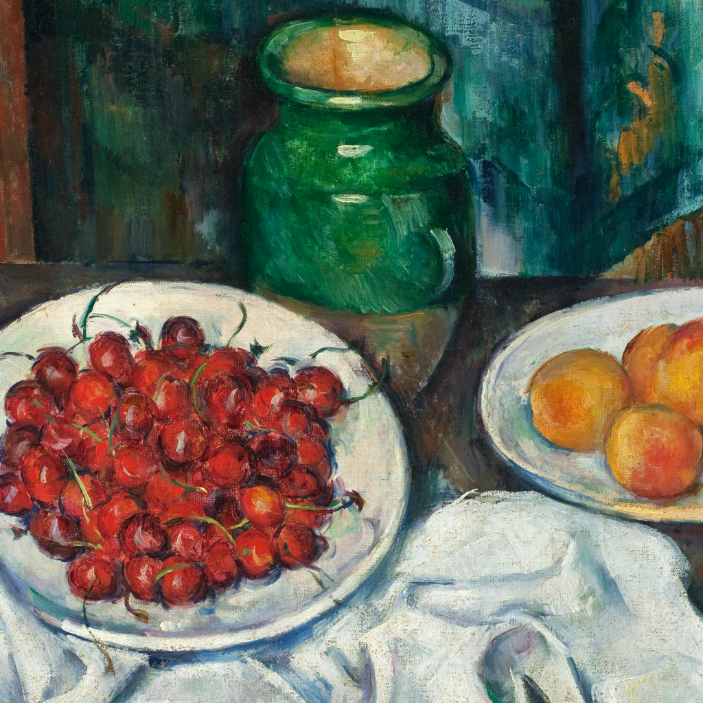 Still Life With Cherries and Peaches by Paul Cézanne