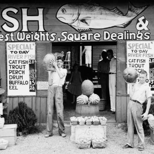 Roadside stand near Birmingham, Alabama by Walker Evans