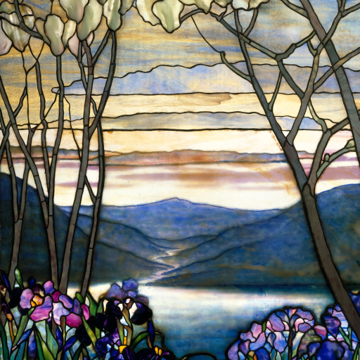 Magnolias and Irises by Louis Comfort Tiffany
