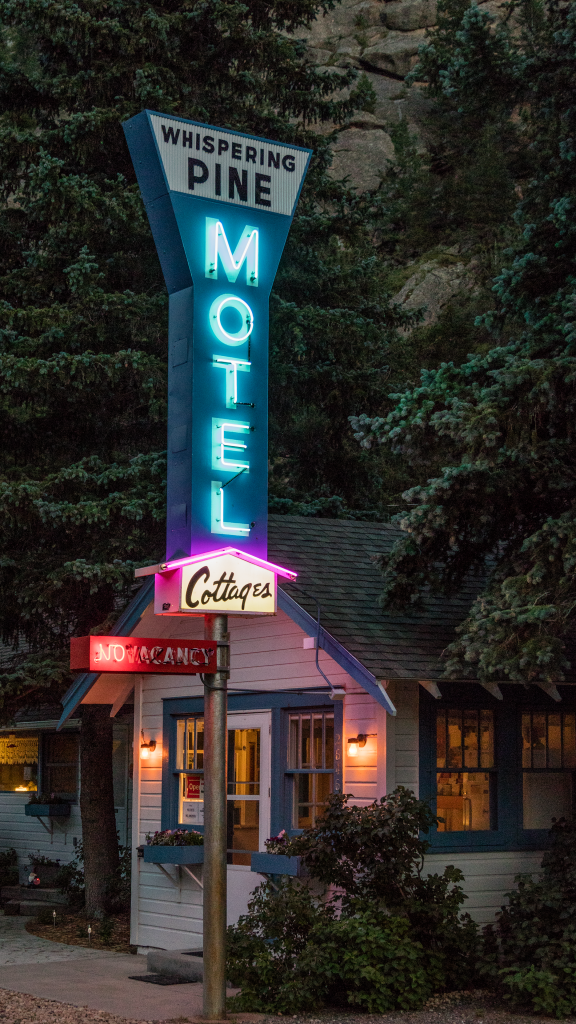 Whispering Pines Motel by Carol M. Highsmith