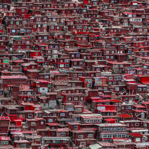 Red Houses by Ali Al-Jazeri