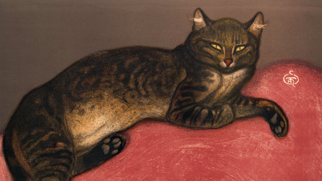 Winter: Cat on a Cushion by Théophile-Alexandre Steinlen