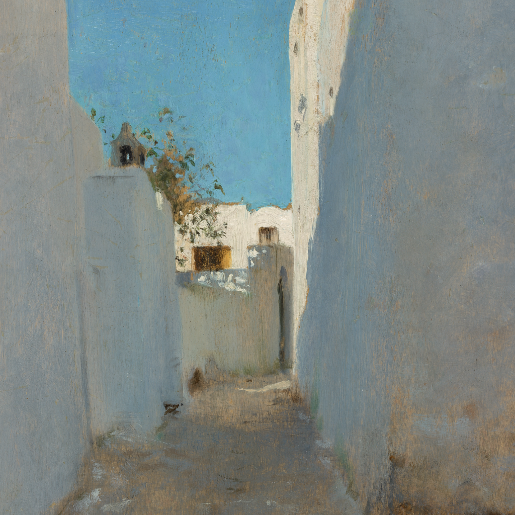 A Moroccan Street Scene by John Singer Sargent