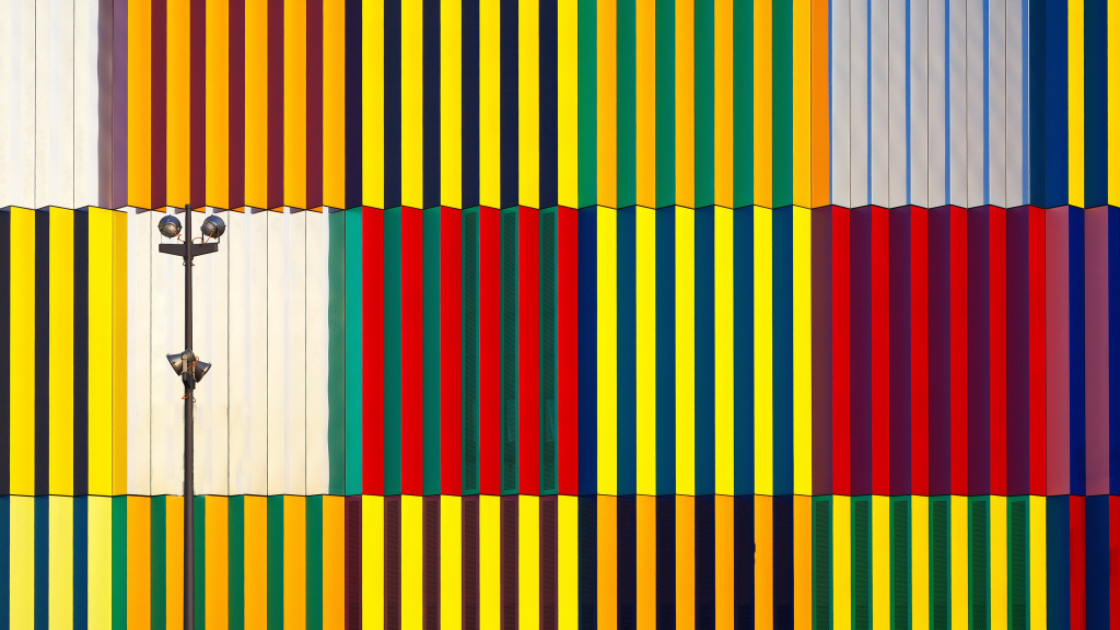 Light and Coloured Verticals by Hans Peter Rank