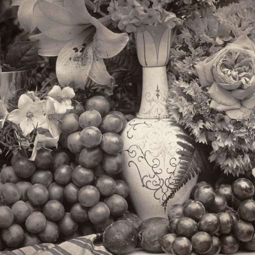 Fruit and Flowers by Roger Fenton