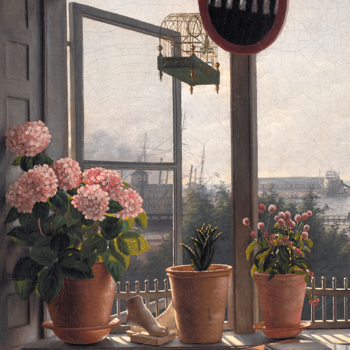 View from the Artist's Window by Martinus Rørbye