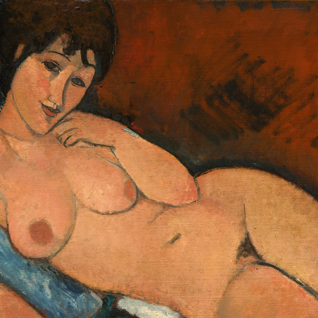 Nude on a Blue Cushion by undefined
