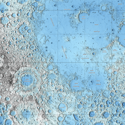 Topo Map of the Moon by undefined