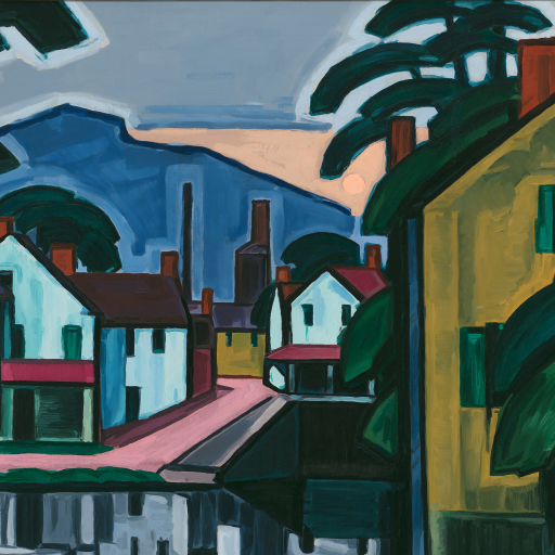 Old Canal Port by Oscar Bluemner