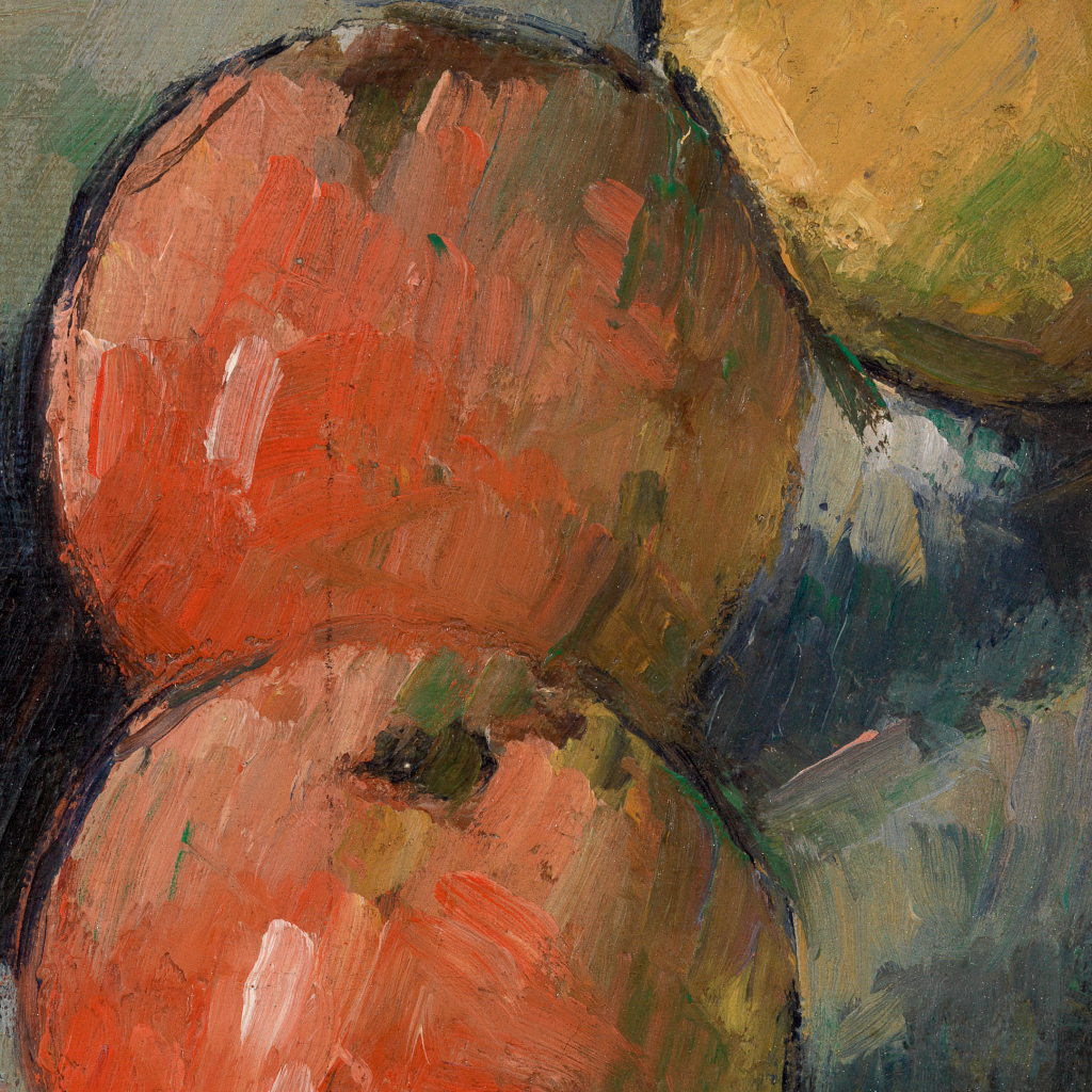 Three Apples (Deux pommes et demie) by Paul Cézanne