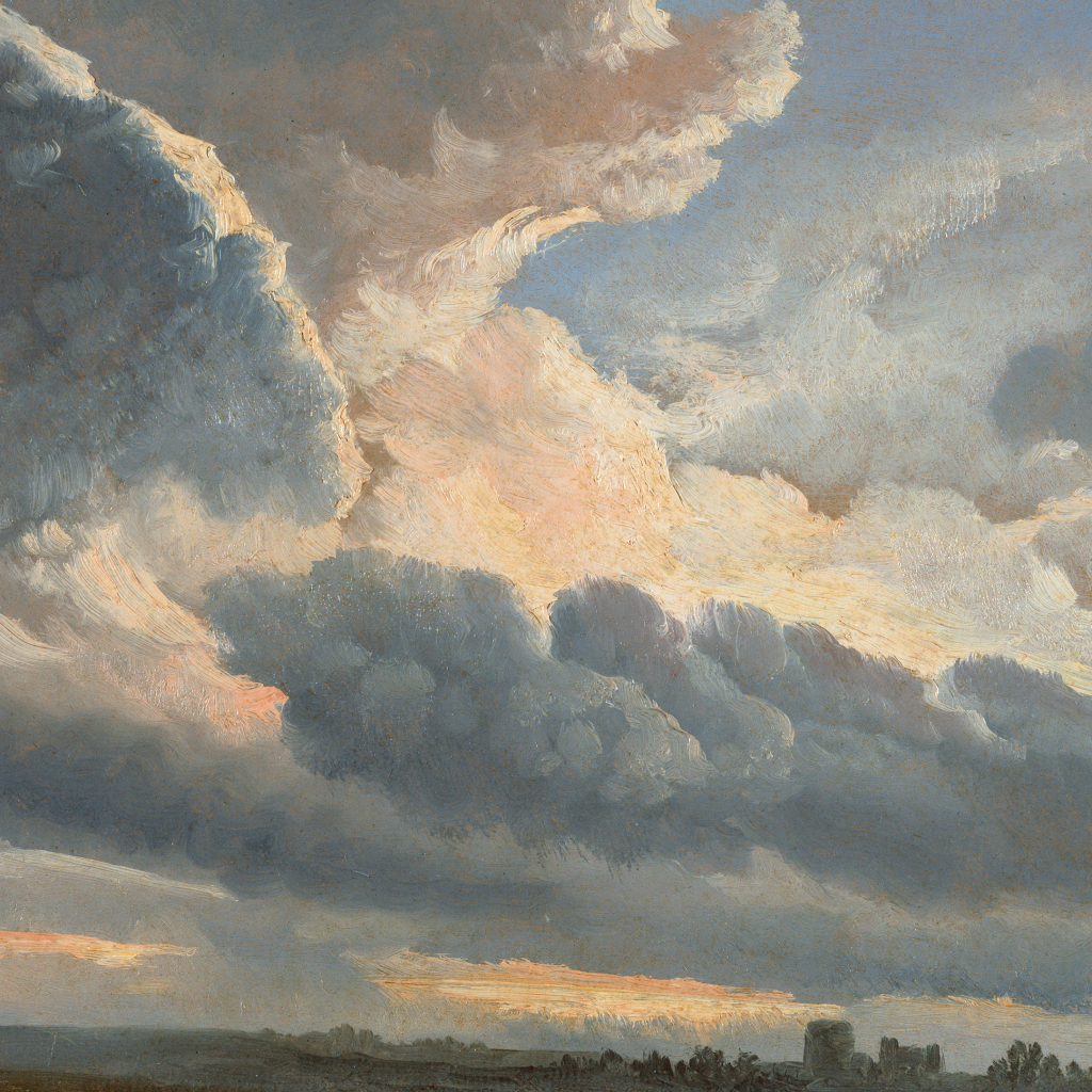 Study of Clouds with a Sunset near Rome by undefined