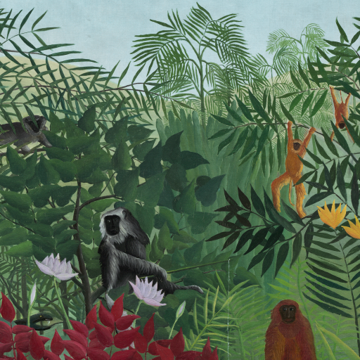 Tropical Forest with Monkeys by undefined