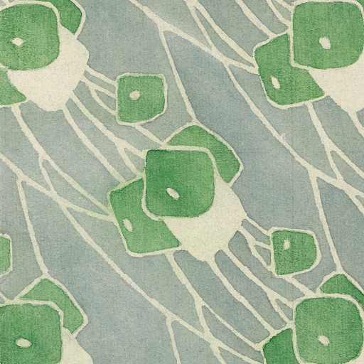 Green Geometric by Hannah Borger Overbeck