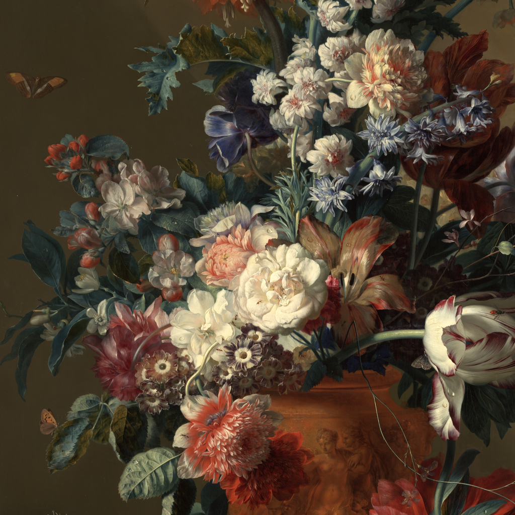Vase of Flowers by Jan van Huysum