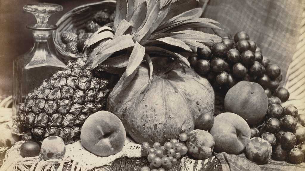 Still Life with Fruit and Decanter by Roger Fenton