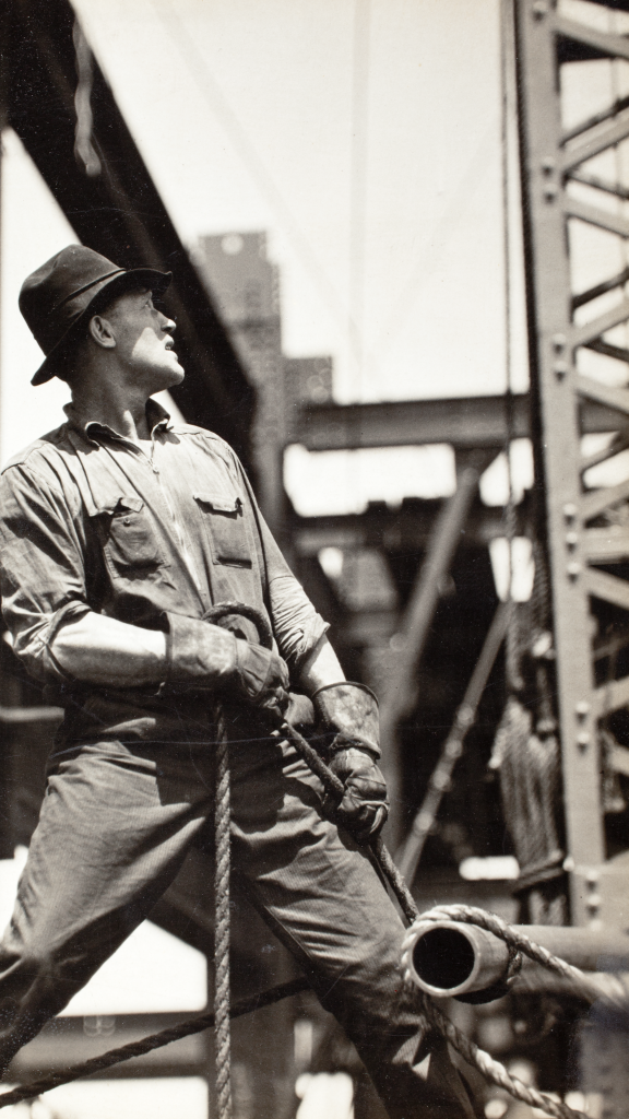 Derrick-Man On Empire State by Lewis Hine