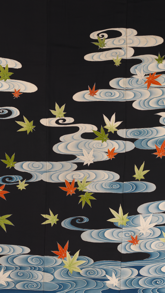 Susoshiki with Maple Leaves in the River Tatsuta by Unknown Artist